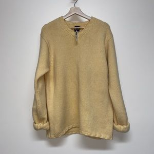 Yellow knit sweater NWT